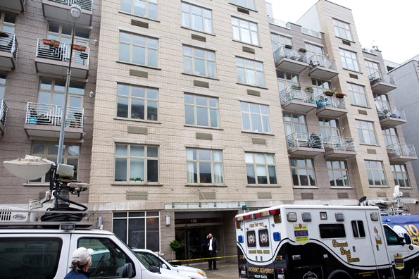 An elevator accident at 156 Hope Street in Williamsburg, Brooklyn, killed a 37-year-old Israeli man on Friday. Credit Brian Harkin for The New York Times