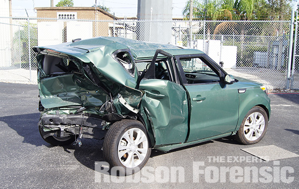 Case Example: vehicle after a rear end crash